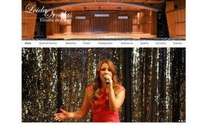 sistio web para estudio de canto
