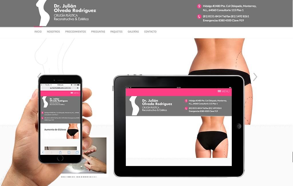 sitio web para cirujano plastico