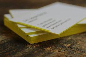 tarjetas de presentacion letterpress