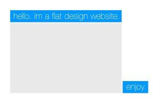 diseno plano en web