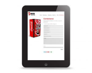 diseño web para empresas de vending