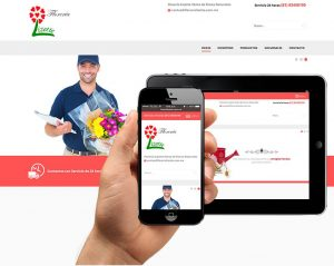diseno web para floreria