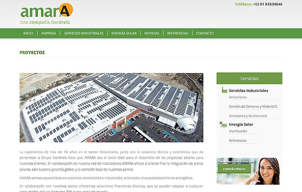 sitio web reponsivo paneles solares