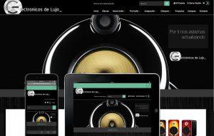 sitio ecommerce productos de audio