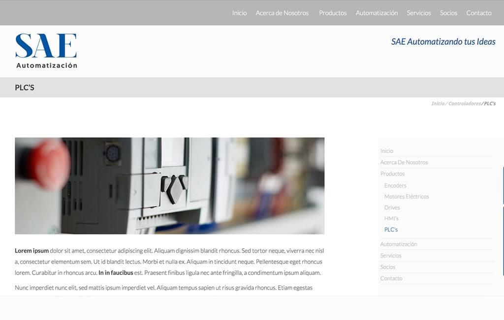 sitio web industriales