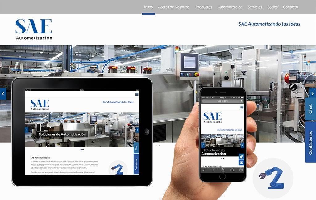 sitio web para empresas industriales