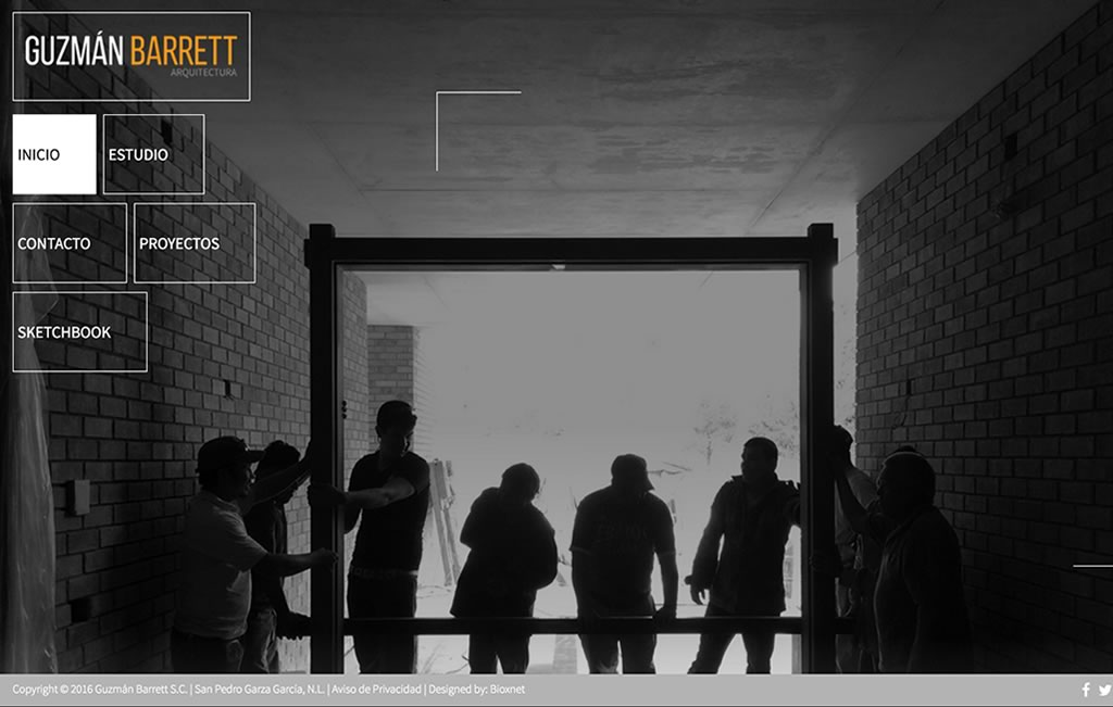 pagina web para arquitectura