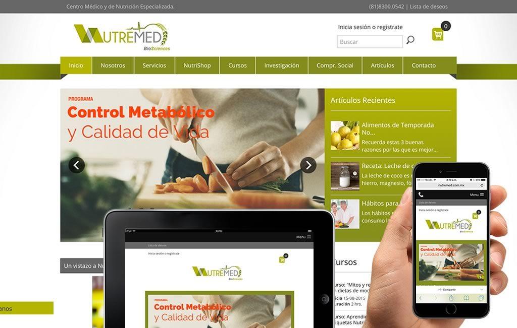 diseno de pagina web nutricion