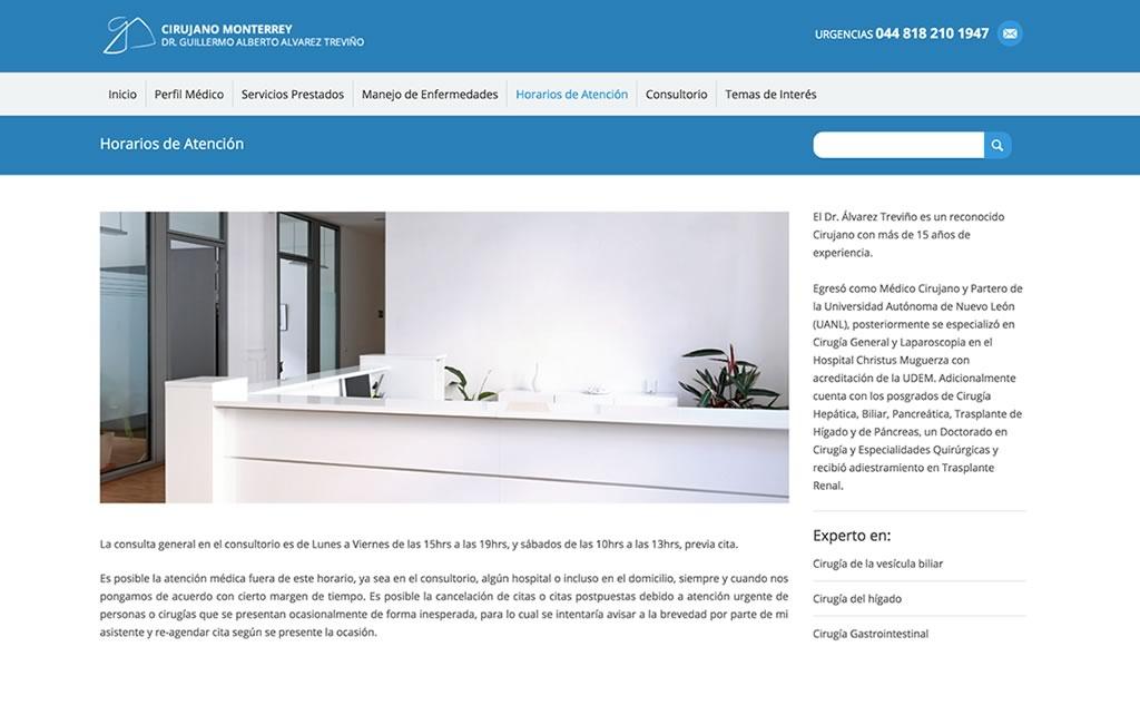 pagina web administrable para medicos