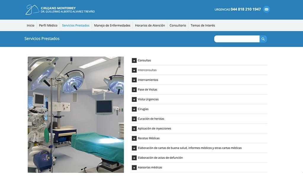diseno web para industria de la salud