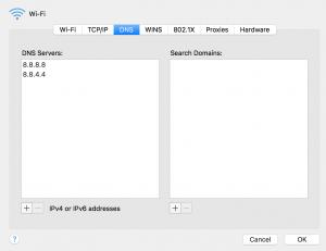 configurar dns google en mac
