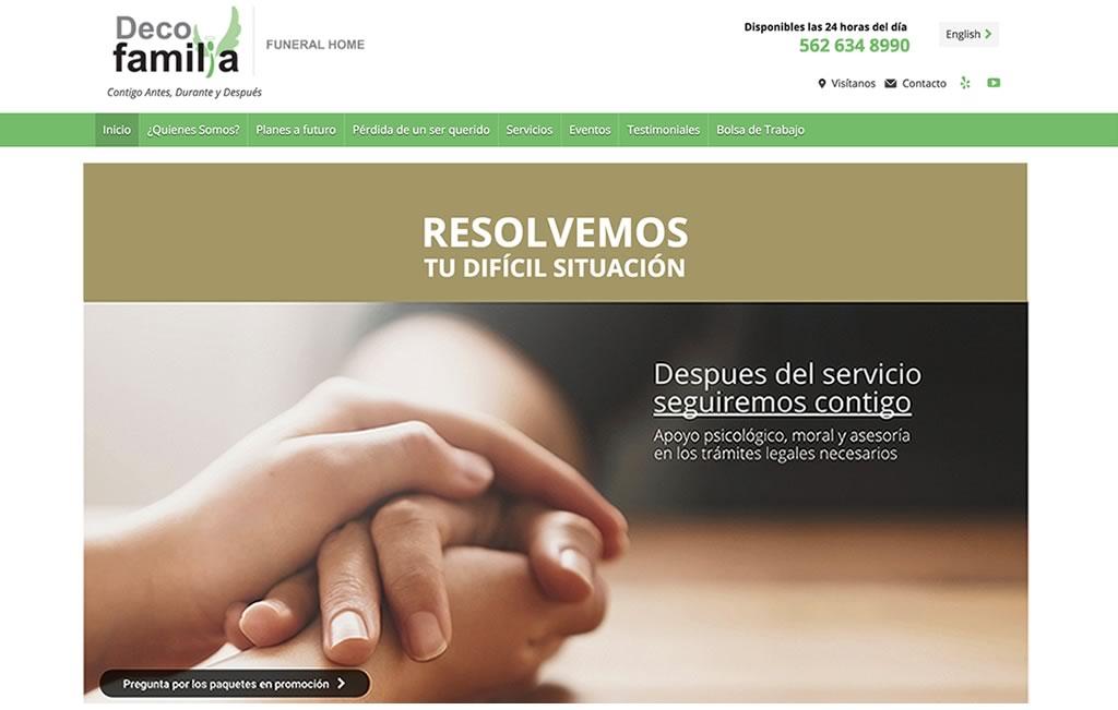 sitio web para funerarias