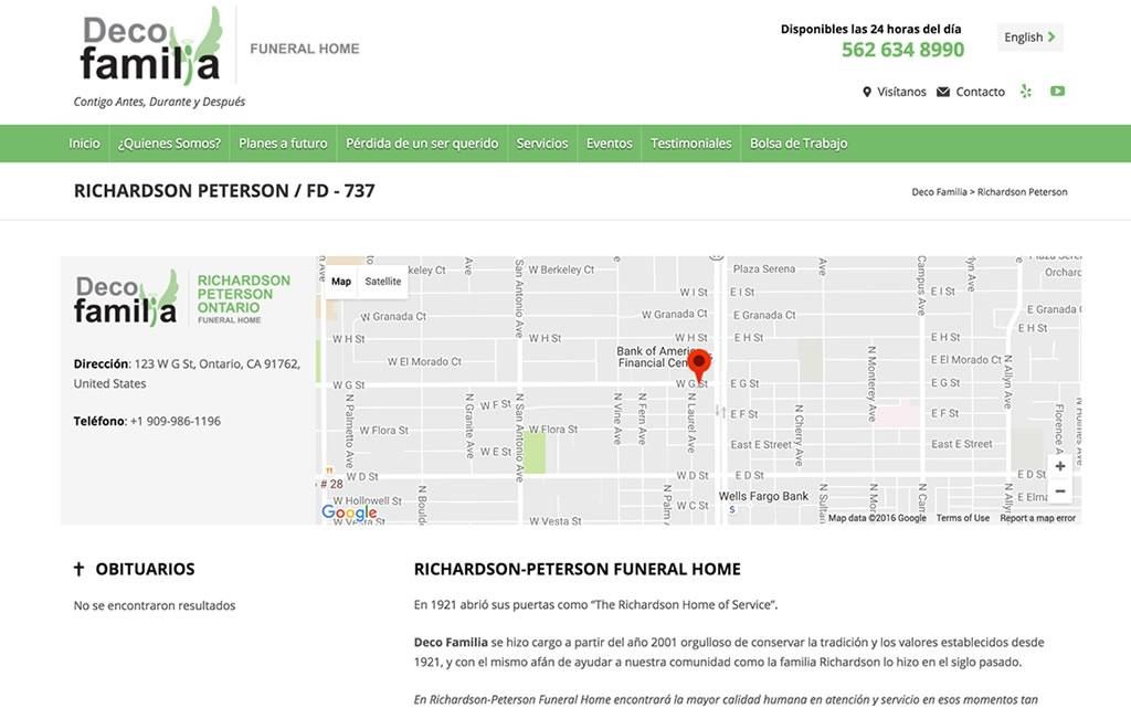 sitio web con google maps