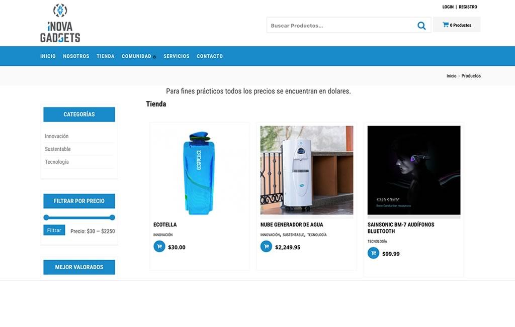 pagina web para compra en linea