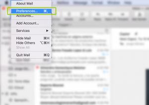 como dar de alta correo en mac mail sierra 12