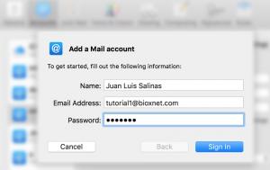 como dar de alta correo en mac mail sierra 8