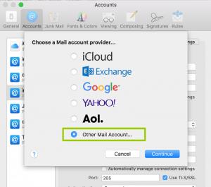 como dar de alta correo en mac mail sierra 9