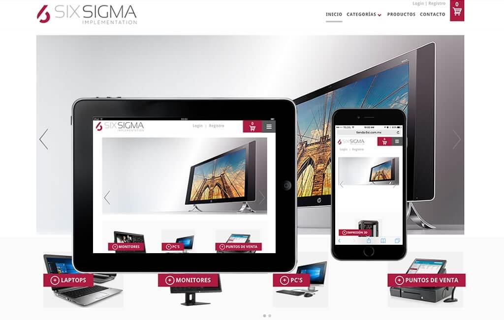diseño de página de internet ecommerce