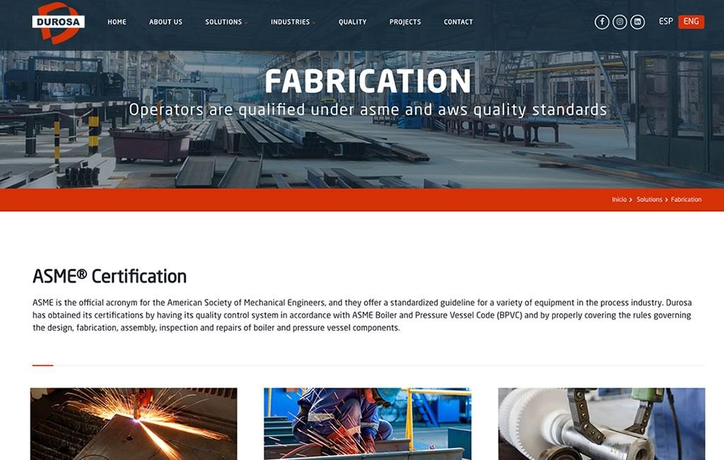 Agencia de diseño web industrial