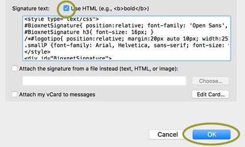 configurar firmar html