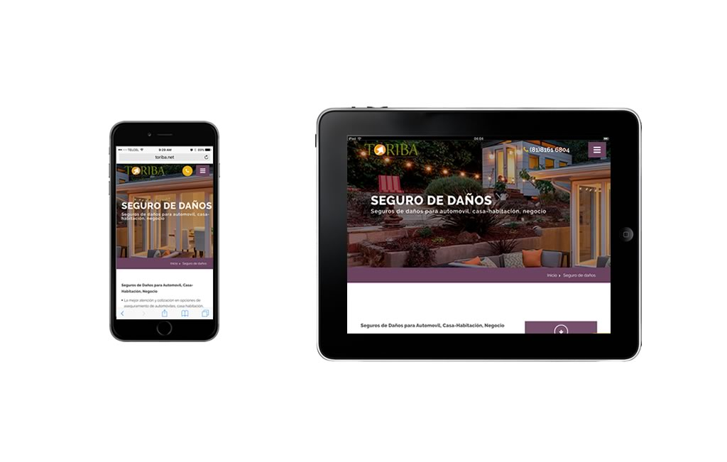 diseño web moderno para moviles