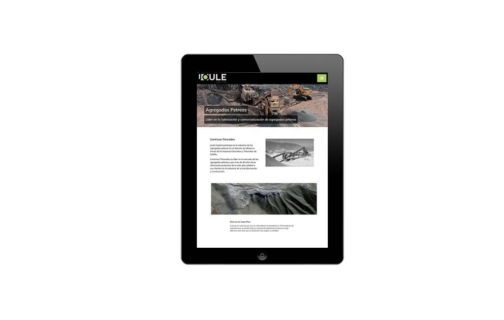 diseño web para ipad