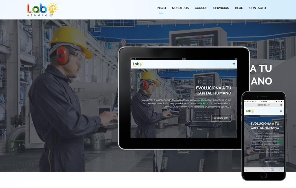 diseño web industrial para ipad