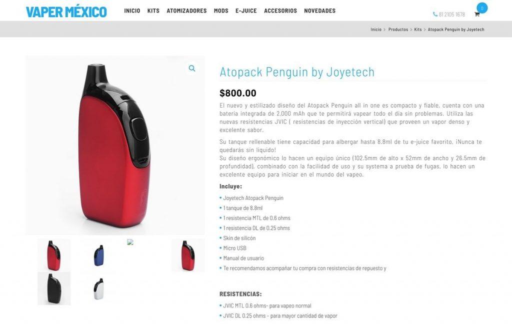 sitio web con carrito de compra
