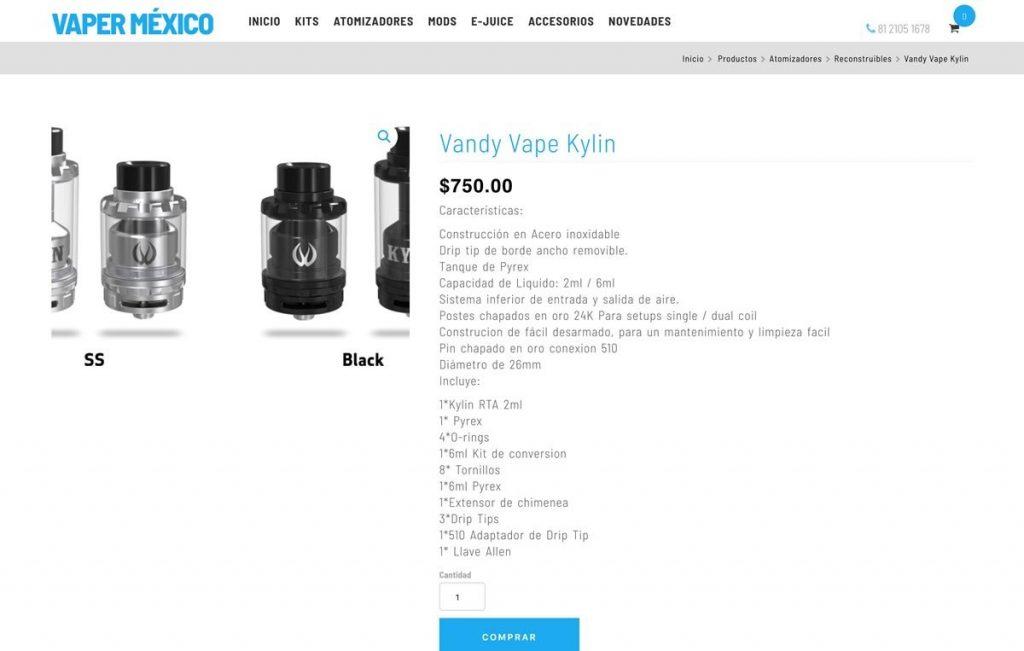 sitio web para venta de productos en linea
