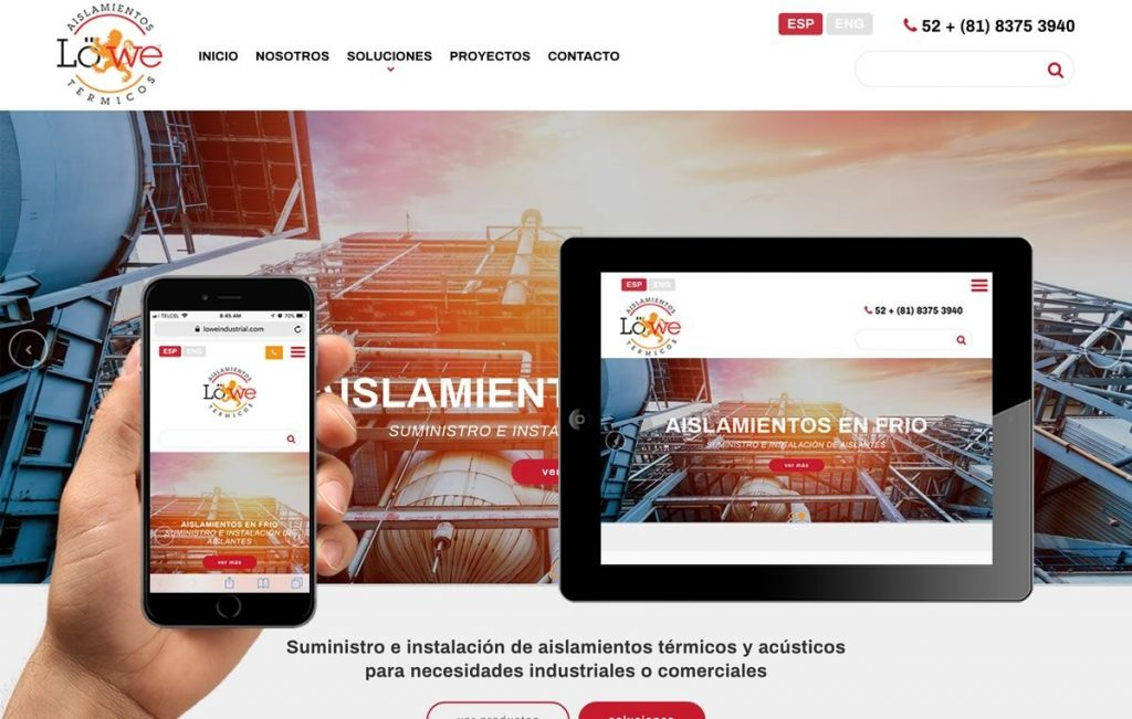 Diseñador de sitios web industriales