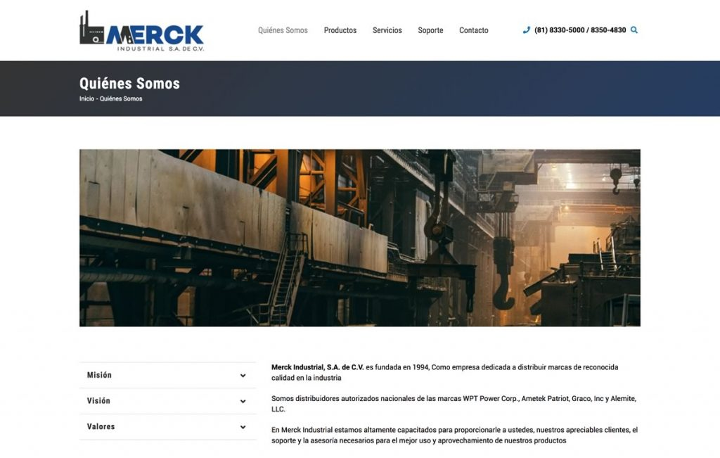diseno web industrial