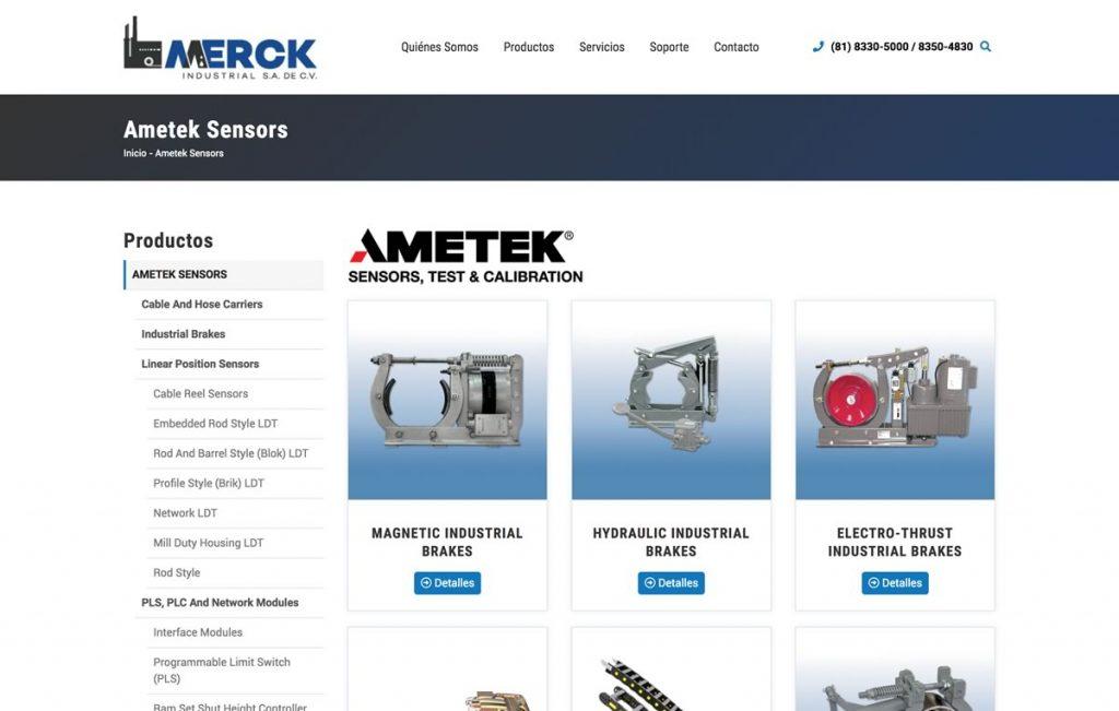 diseño web para industria