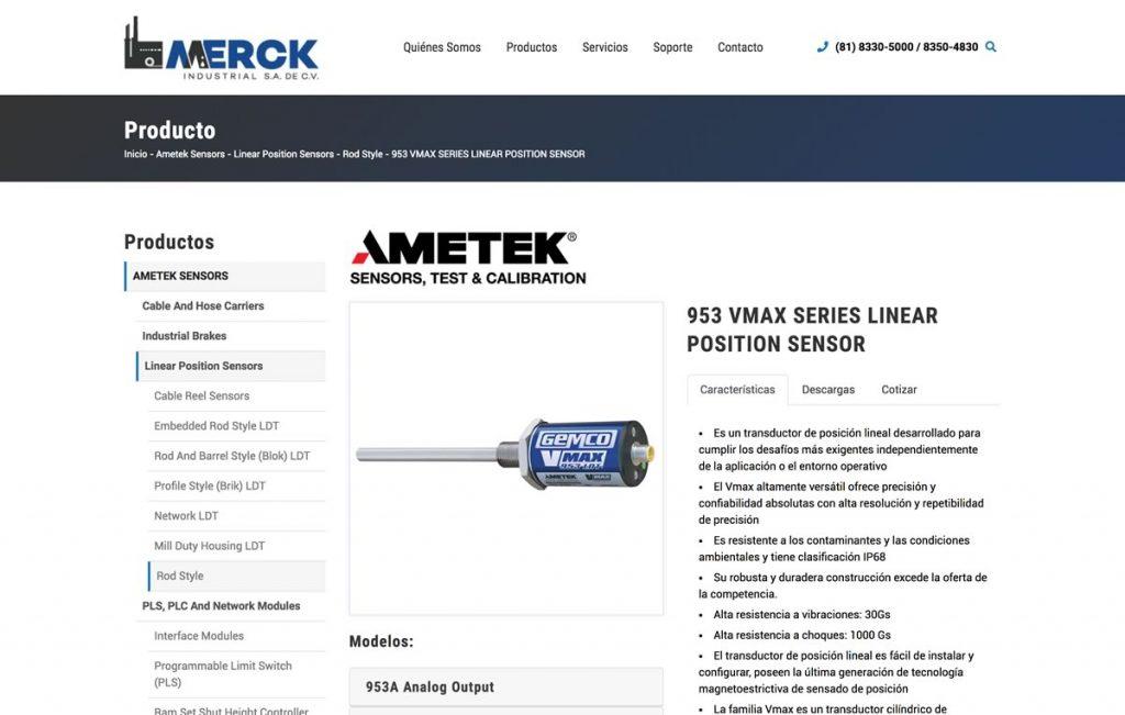 diseño de pagina web para industria