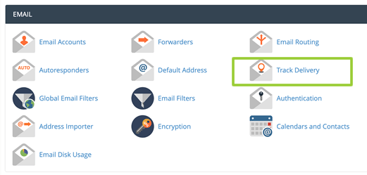 track delivery cpanel