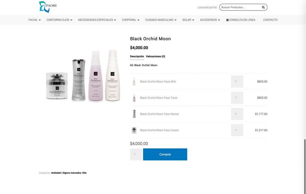 sitio web carrito de compras