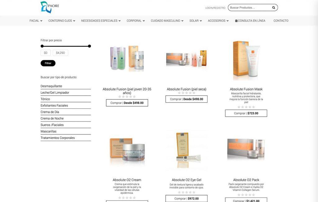sitio web tienda virtual