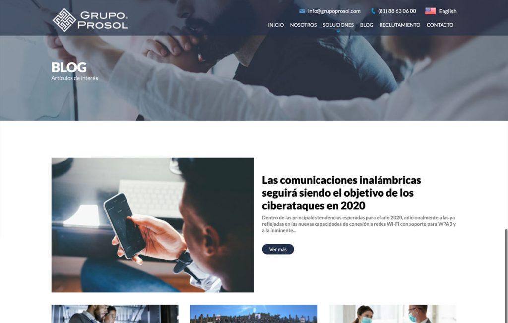 Diseño de sitio de internet