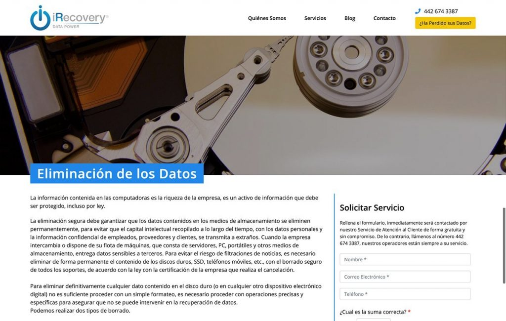 Diseño de pagina web mty