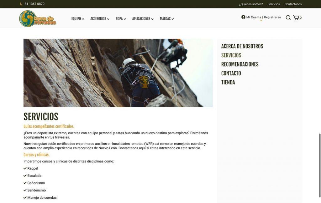 diseño pagina web de venta en linea