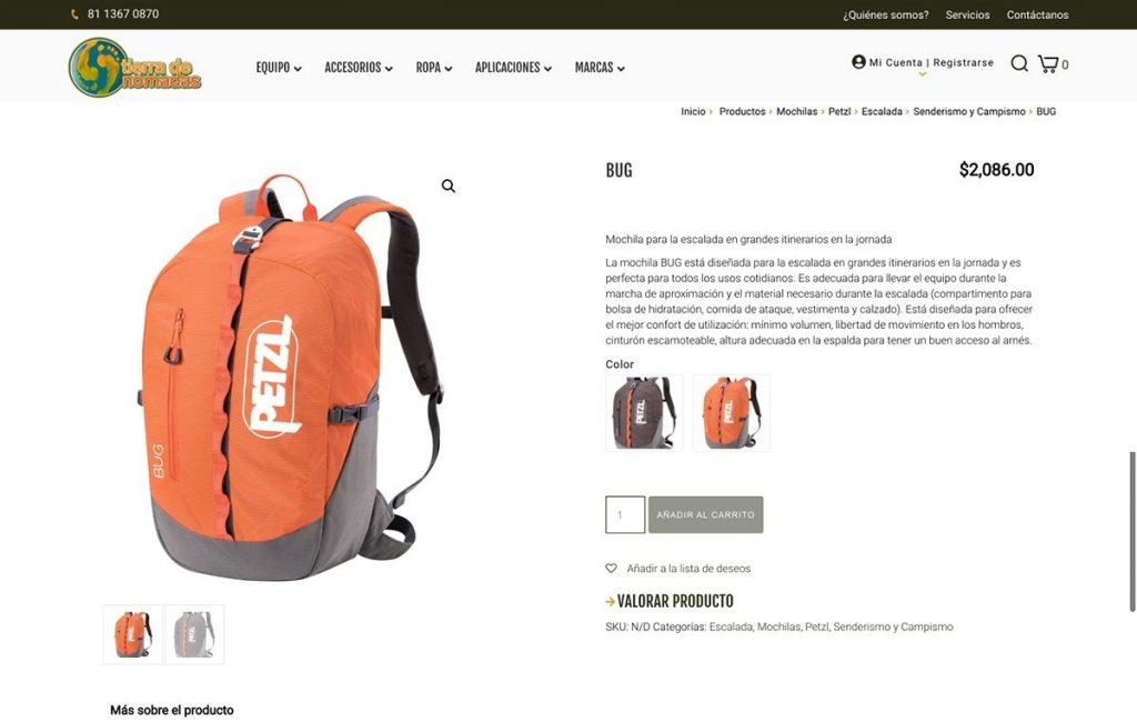 diseño web de tienda en linea