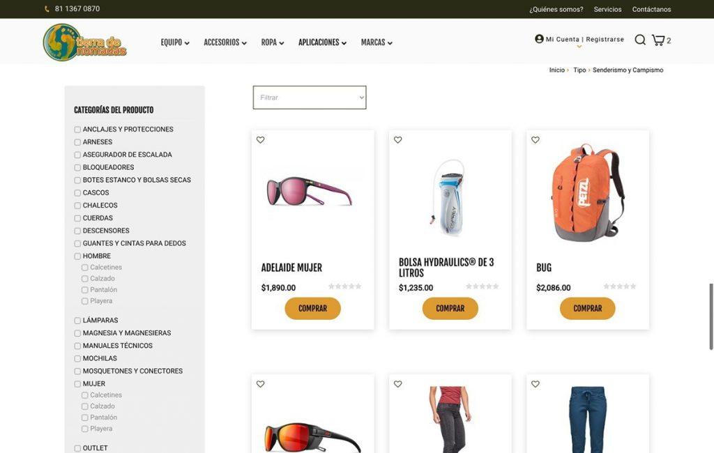 pagina web tienda enlinea monterrey